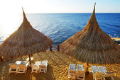 Beach at the luxury hotel, Sharm el Sheikh, Egypt — Stock Photo