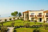 The luxury villas are near beach, Pieria, Greece — Stock Photo