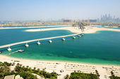 View on Jumeirah Palm man-made island, Dubai, UAE — Stock Photo