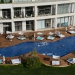 The swimming pool near beach at the luxury hotel, Antalya, Turkey — Stock Video #46036637