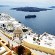 The Fira town with view on Aegean sea, Santorini island, Greece — Stock Photo #46978477