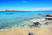 The beach on uninhabited island, Crete, Greece — Foto Stock