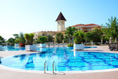 Swimming pool at luxury hotel, Antalya, Turkey — Stock Photo