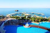 The swimming pool and beach, Antalya, Turkey — Stok fotoğraf