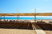 The beach at luxury hotel, Antalya, Turkey — Stok fotoğraf