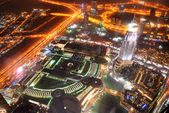 DUBAI, UAE - SEPTEMBER 10: Night view on Down town of Dubai city — Stock Photo