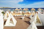 Praia no hotel de luxo, sharm el sheikh, egito — Foto Stock