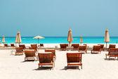 Beach of the luxury hotel, Abu Dhabi, UAE — Stock Photo