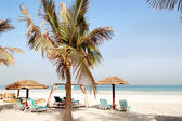 Beach of the luxury hotel, Ajman, UAE — Stock Photo