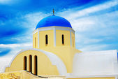 Orthodox Church on Santorini island, Greece — Stock Photo