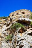 The fortress on Spinalonga Island, Crete, Greece — Stock Photo