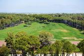 Der blick auf golf-felder, antalya, türkei — Stockfoto