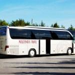 KASSANDRA PENINSULA , GREECE - APRIL 26: The modern bus for tour — Stock Photo #51055259