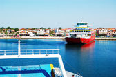 KERAMOTI, GREECE - APRIL 29: The Thassos ferry going to Thassos  — Zdjęcie stockowe