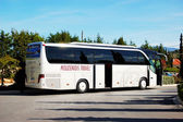 KASSANDRA PENINSULA , GREECE - APRIL 26: The modern bus for tour — Foto Stock