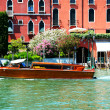 VENICE, ITALY - JUNE 16: The water taxi with tourists is on Gran — Stock Photo #51189095