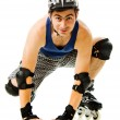 Man in roller blades — Stock Photo