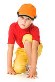 A child on starting line. — Stock Photo