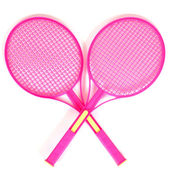 Tennis rackets isolated — Stock Photo