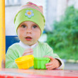 Little kid in the playground. — Stock Photo
