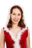 美丽的快乐圣诞女人 — 图库照片