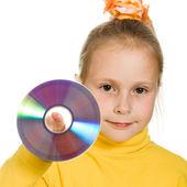 Молодая девушка с компакт-диска — Стоковое фото