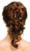 Vacker flicka med frisyr. — Stockfoto