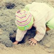 Kid on the beach — Stock Photo