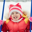 Baby winter outdoors. - Stock Photo
