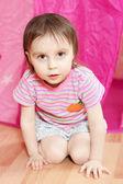 Kid sitting — Stock Photo