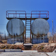 Crude oil tank — Stock Photo