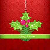 Merry christmas ilex — Stockvektor