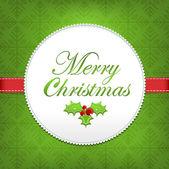 Merry Christmas Ilex band — Stock Vector