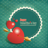 Valentine's Day vintage — Stock Vector