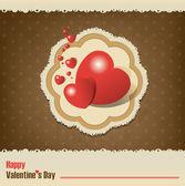 Valentine's Day vintage — Vecteur