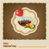 Valentine's Day vintage — Vector de stock