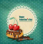 Valentine's Day vintage — Stock Vector