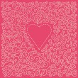 Valentin s day card with heart — Stock Vector #1563112