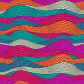 Patrón de ondas dibujadas a mano abstracta sin fisuras, fondo ondulado. mar — Vector de stock