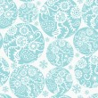 Royalty-Free Stock Vectorielle: Christmas balls seamless pattern in blue