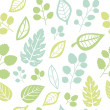 Seamless texture with leaf — Stock Vector