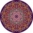 Indian ornament, kaleidoscopic floral pattern, mandala. — Stock Vector