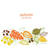 Autumn texture with leaf — Stock Vector