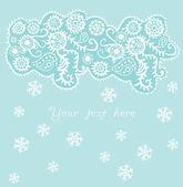 Ornamental christmas background, snowfall — Stock Vector