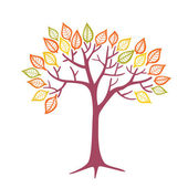 Autumnal tree — Stock Vector