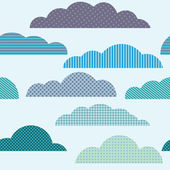 Seamless pattern with clouds — Stock Vector