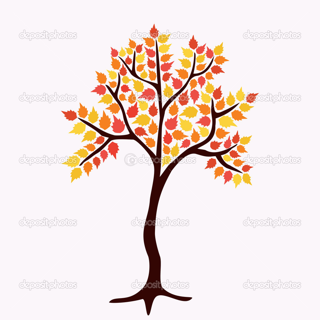 Autumn tree — Stock Vector #20877463