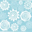 Blue christmas seamless pattern with snowflakes — Stock Vector