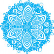Blue snowflake on white background — Grafika wektorowa