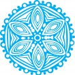 Blue snowflake on white background — Imagen vectorial